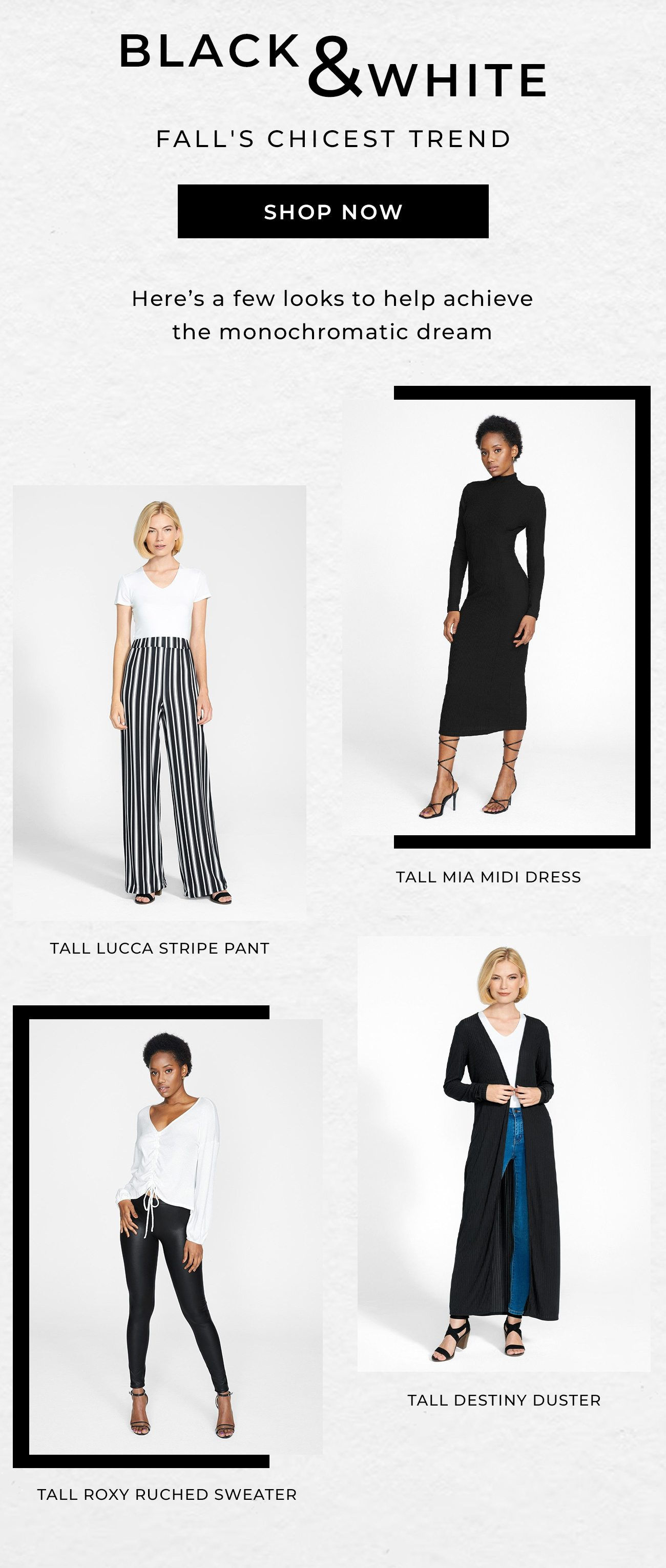 Black & White - Fall's Chicest Trend