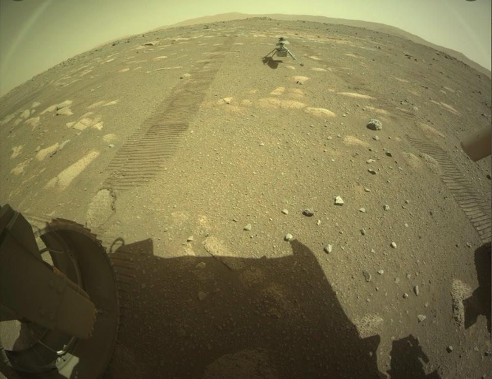 NASA Image Of Ingenuity Did Not Capture A Martian Rainbow - Here's An Explanation