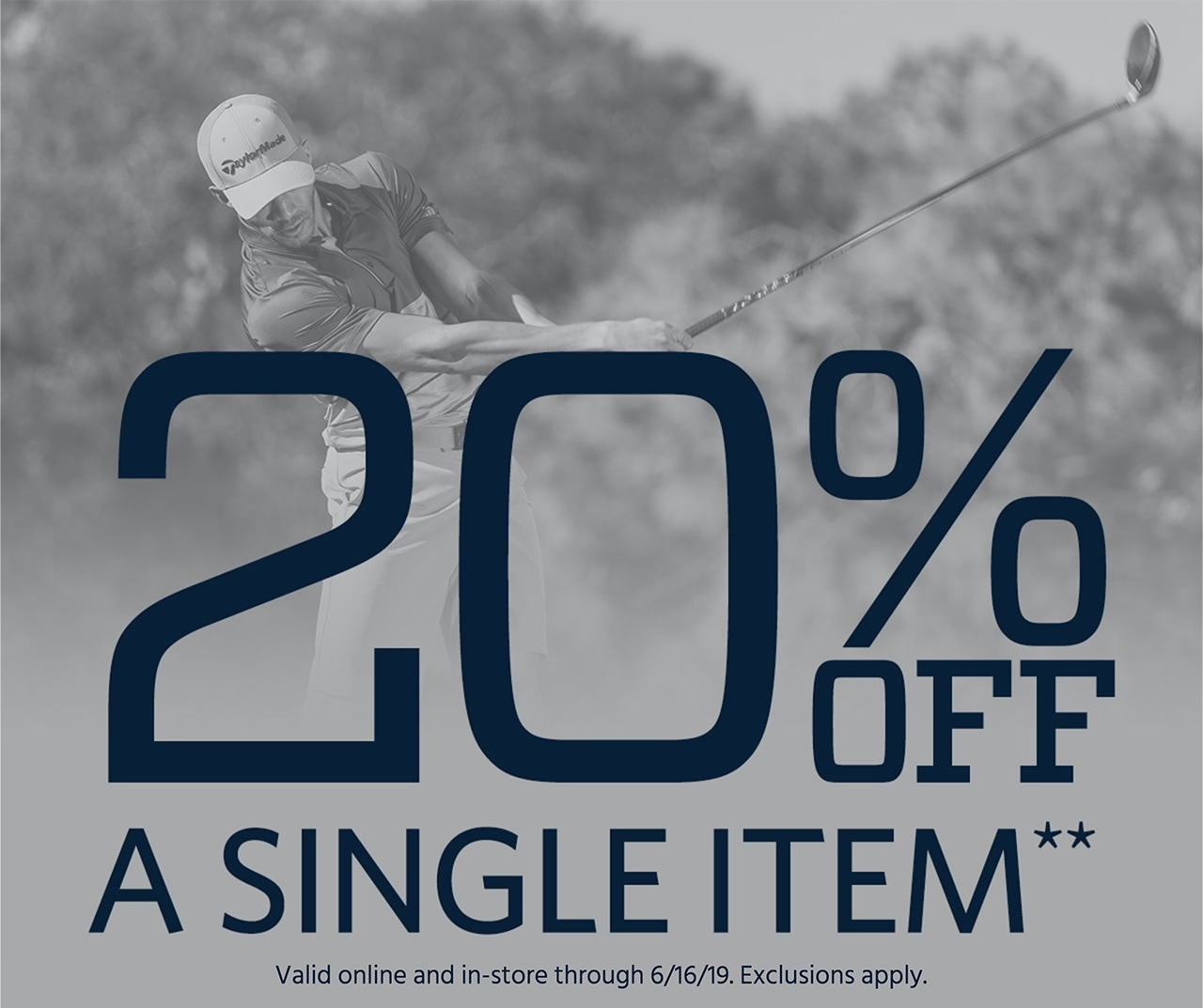 20% Off a Single Item**. Valid online only through 6/16/19. Exclusions apply. If, date is after June 27, 2019 11:59 AM PDT, Sorry! You missed this promotion, but you can still shop this week's deals. Shop now.)