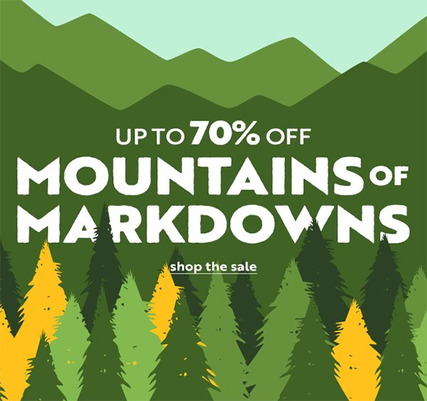 Mountains of Markdowns Up to 70% OFF - Click to Shop