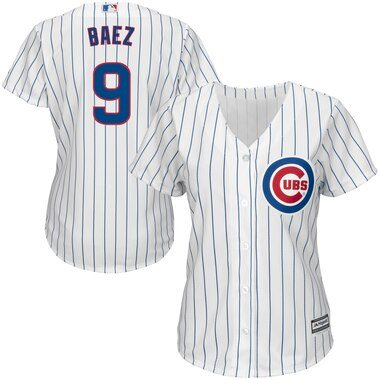 Javier Baez Chicago Cubs Majestic Women's Cool Base Player Jersey - White