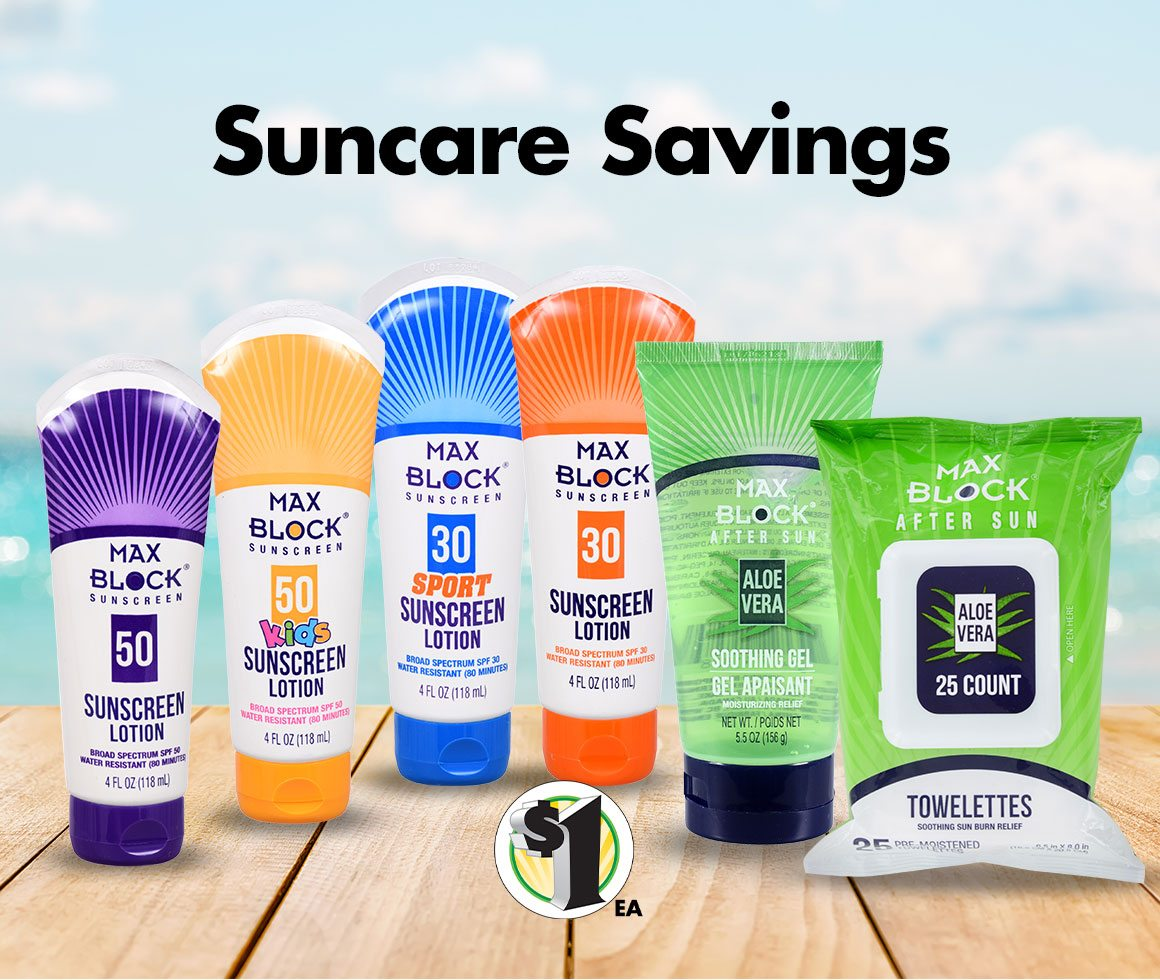 Shop $1 Suncare Products Online