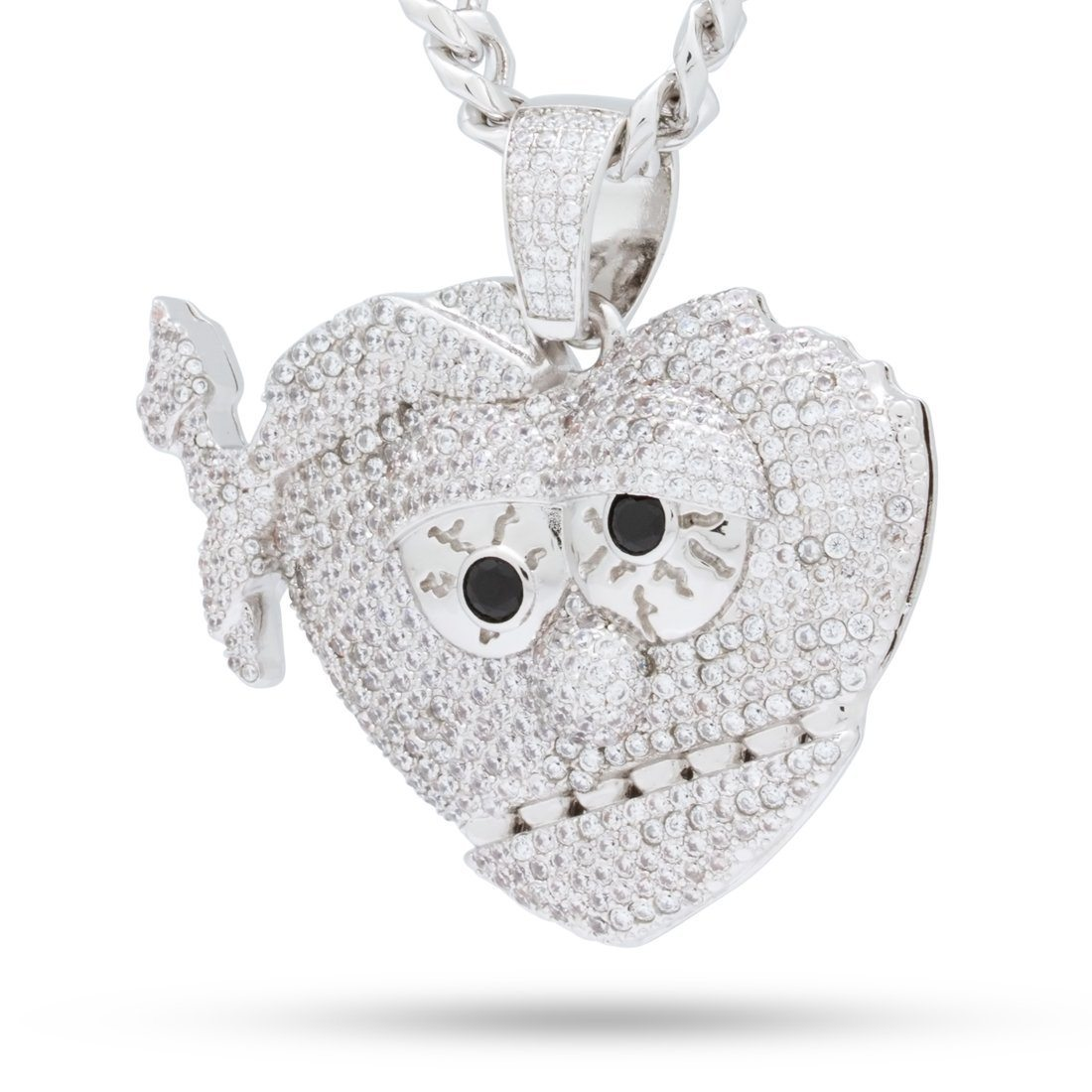 Image of Chief Keef x King Ice - White Gold XL THOT Necklace
