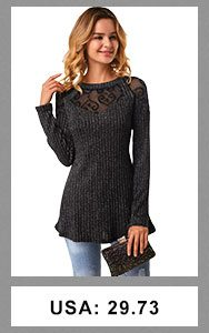 Keyhole Back Long Sleeve Round Neck T Shirt