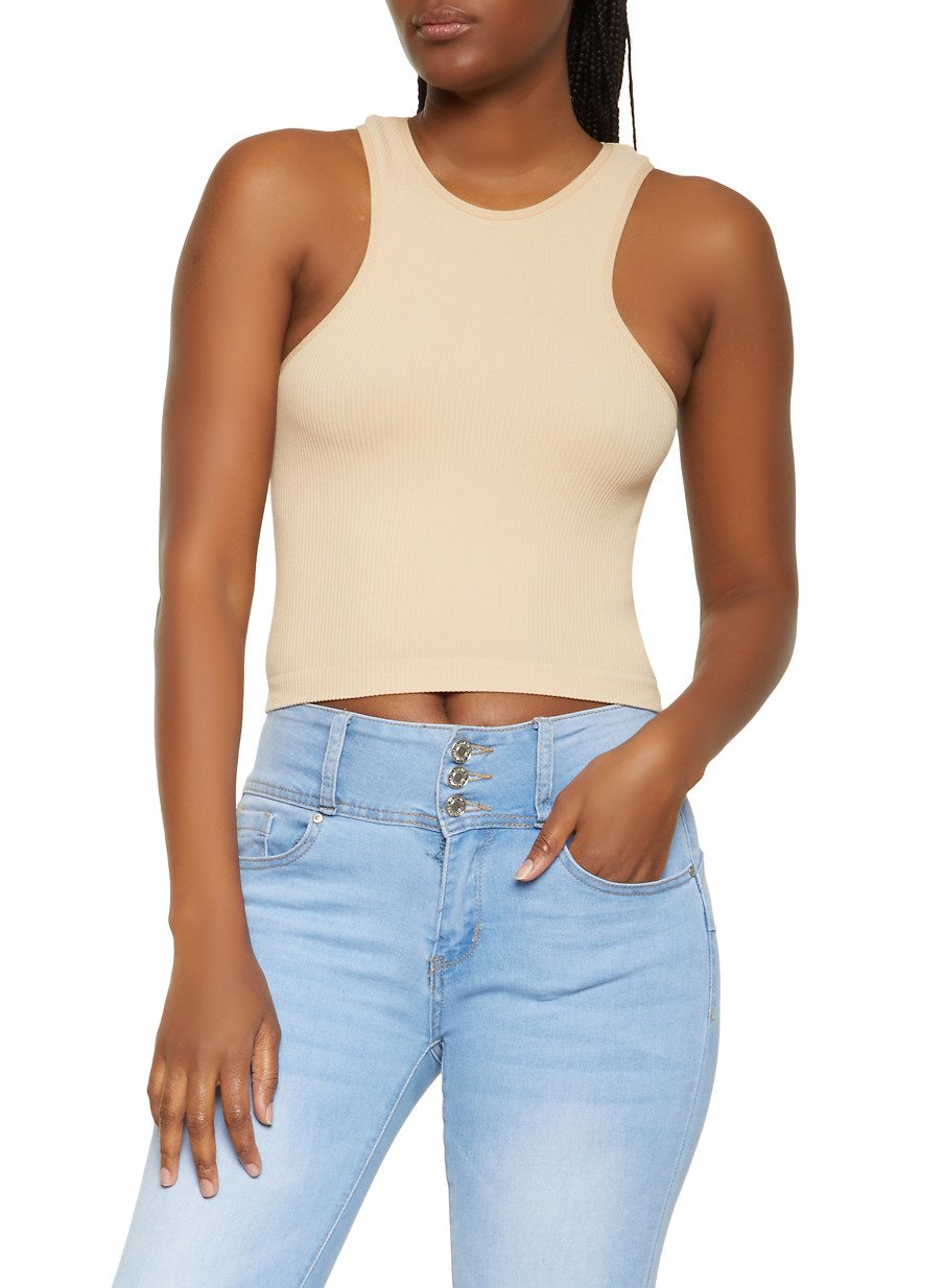 Cropped Racerback Tank Top