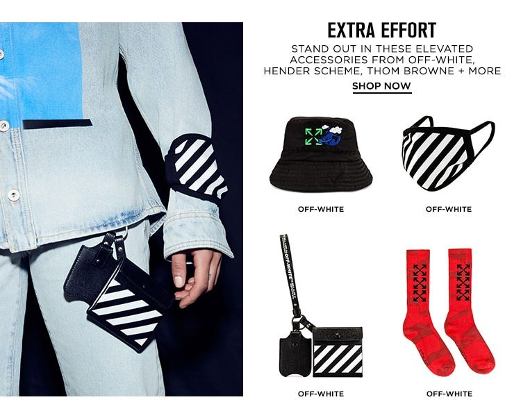 Extra Effort DEK: Stand out in these elevated accessories from Off-White, Hender Scheme, Thom Browne + more - Shop Now