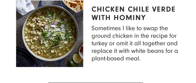 CHICKEN CHILE VERDE WITH HOMINY