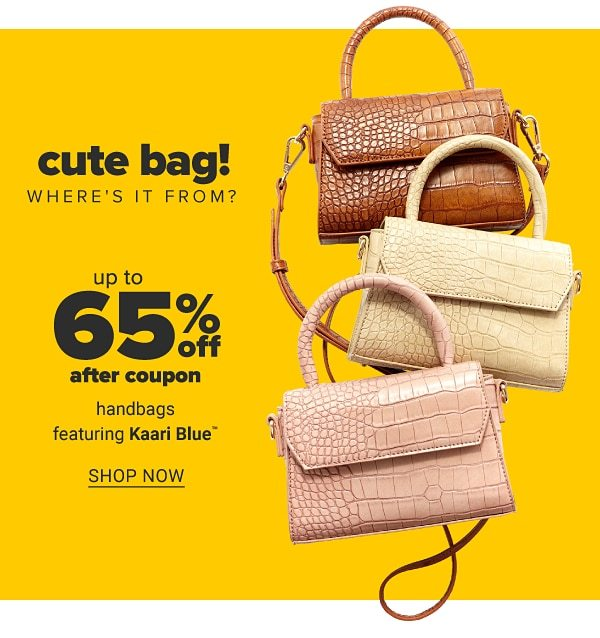 Cute bag! Where's it from? Up to 65% off after coupon handbags featuring Kaari Blue. Shop Now.