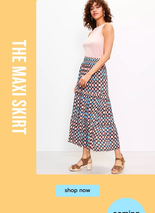 The Maxi Skirt. Shop now