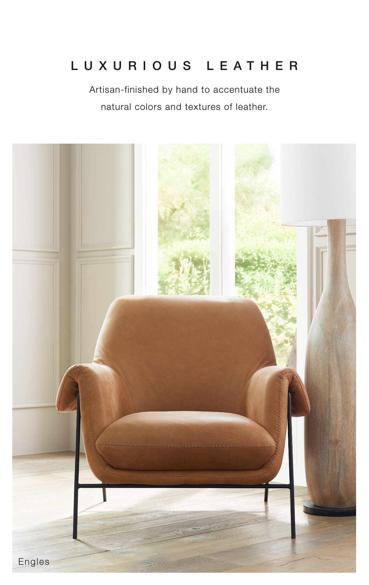 Luxurious leather chairs