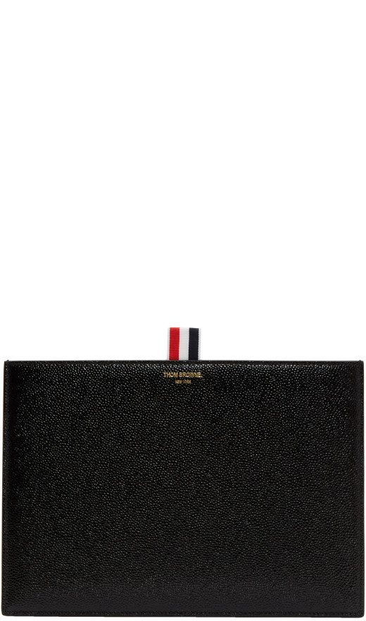 Thom Browne - Black Leather Pouch