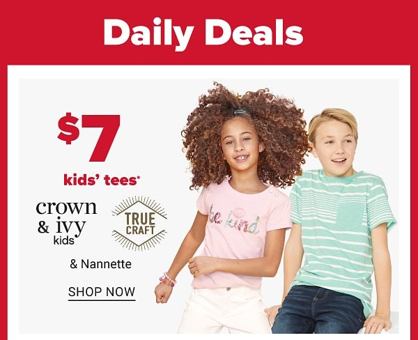 Daily Deals - $9 kids's tees. Shop Now.