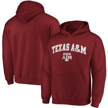 Texas A&M Aggies Fanatics Branded Campus Pullover Hoodie - Maroon