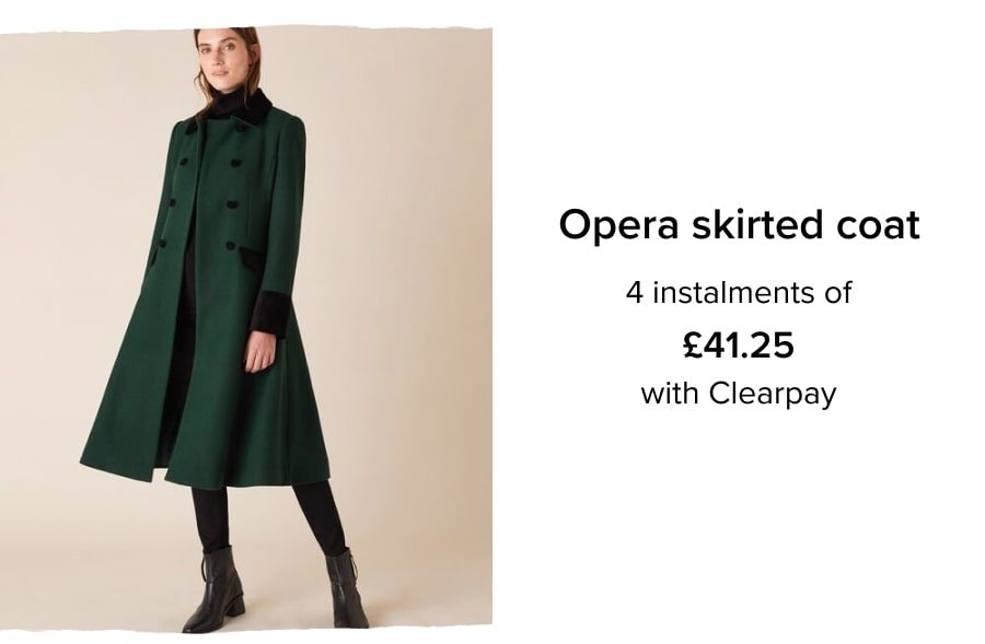 Opera skirted coat