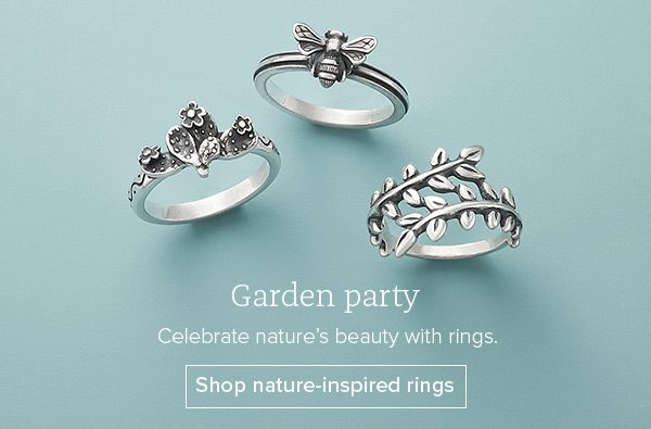 Garden party - Celebrate nature's beauty with rings. Shop nature-inspired rings