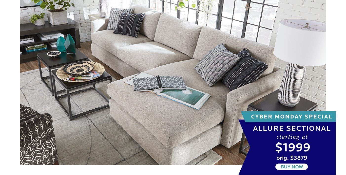 Allure Sectional Starting at $1999