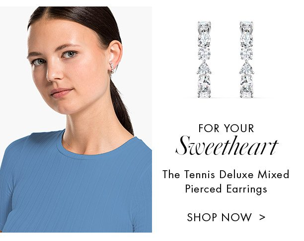 The Tennis Deluxe Mixed Pierced Earrings