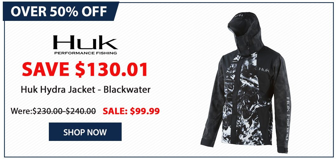 Over 50% OFF Huk Hydra Jacket - Blackwater