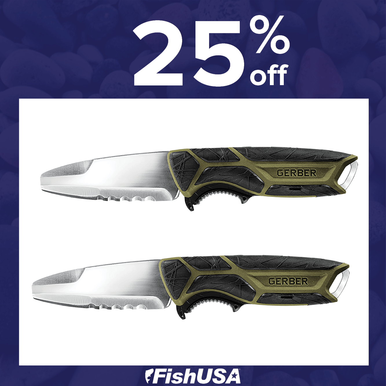 25% off the Gerber Crossriver Fixed Blade Knife
