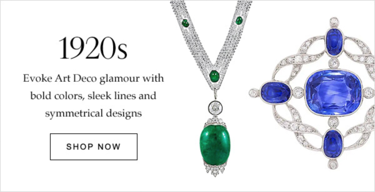 1920s Evoke Art Deco glamour with bold colors, sleek lines and symmetrical designs | SHOP NOW