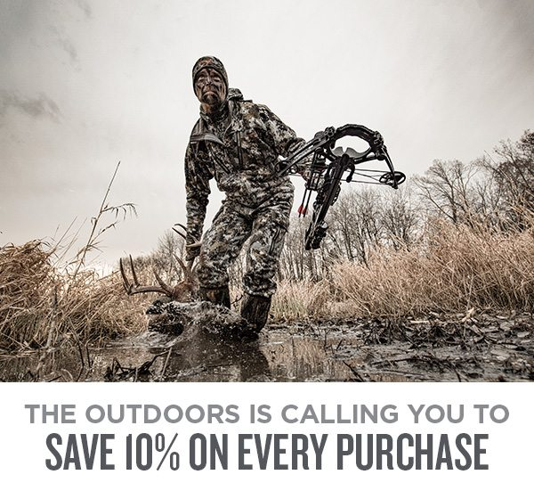 The outdoors is calling you to save 10% on every purchase