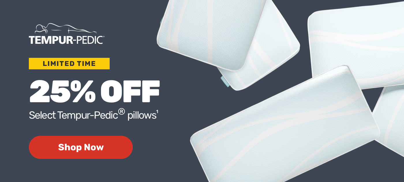 Tempur pedic Limited time 25% off select tempur-pedic pillows shop now