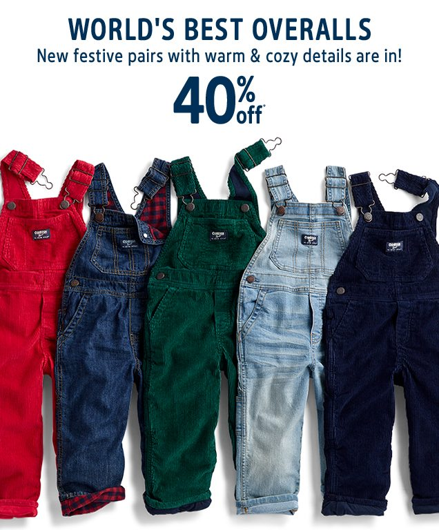 WORLD'S BEST OVERALLS | New festive pairs with warm & cozy details are in! | 40% off*