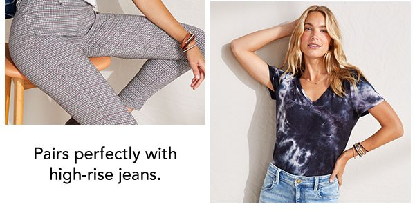 Pairs perfectly with high-rise jeans.