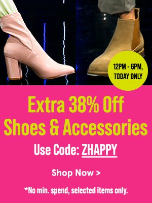 Extra 38% Off Shoes & Accessories