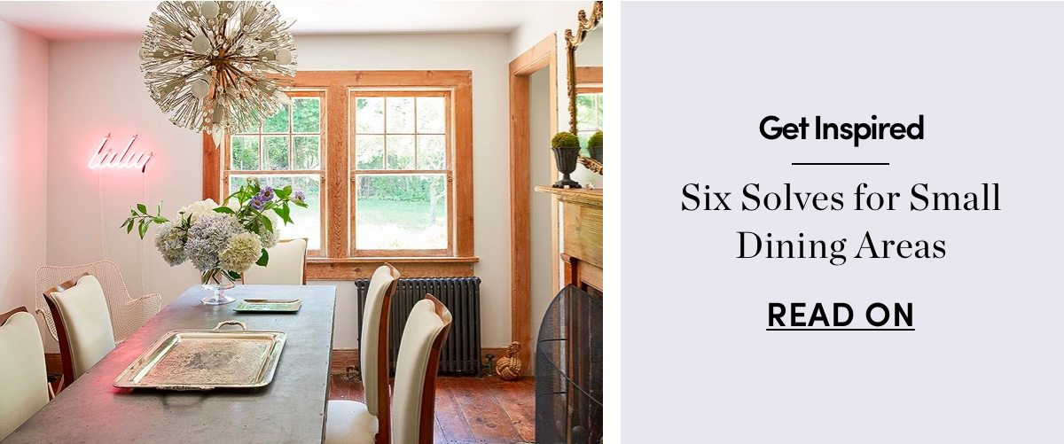 Six Solves for Small Dining Areas