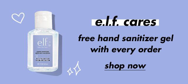 Free hand sanitizer with every purchase