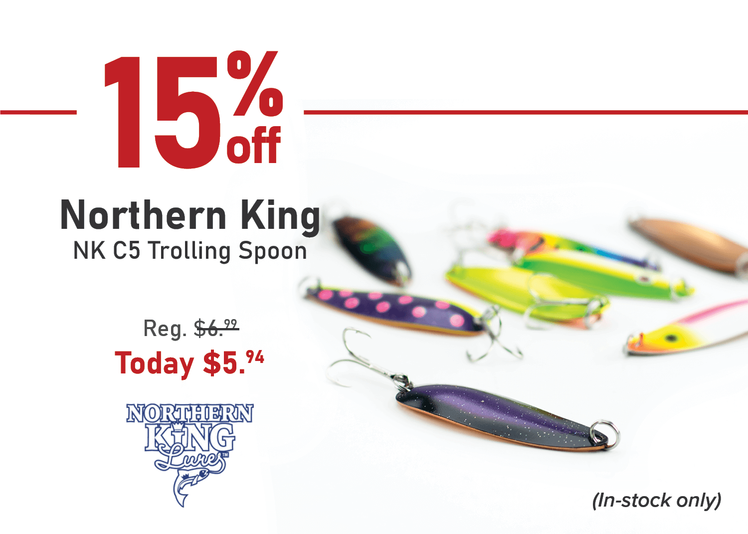 Take 15% off the Northern King NK C5 Trolling Spoon