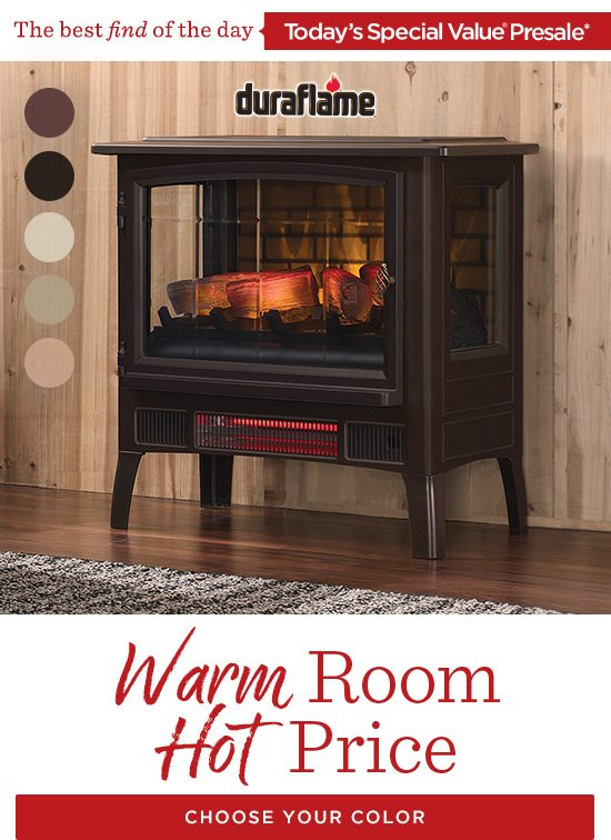 Hot Price! Duraflame Stove Heater TSV Presale - QVC Email