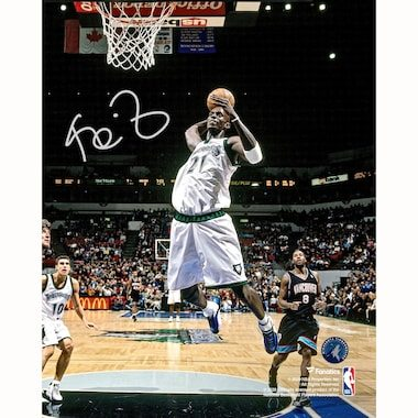 "Kevin Garnett Minnesota Timberwolves Fanatics Authentic Autographed 8"" x 10"" Dunking in White Photograph"