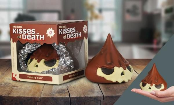 Skull Kisses of Death Mostly Evil Vinyl Collectible by Dead Zebra