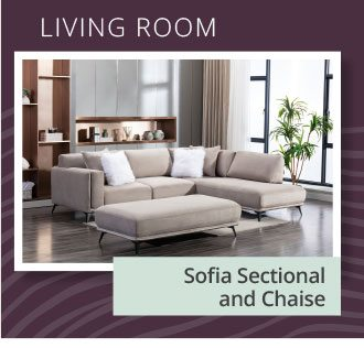 LIVING ROOM   Sofia Sectional and Chaise