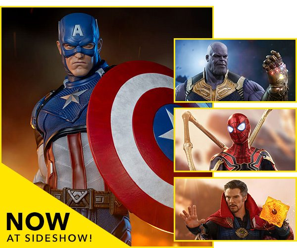 Now Available at Sideshow - Captain America, Thanos, Spider-Man, Doctor Strange