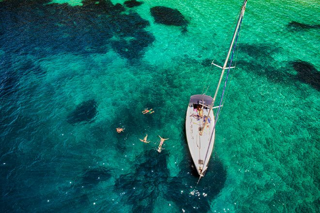 Grab your friends and sail the Cyclades Islands on a private yacht for 6!