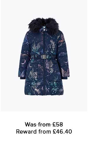 LUNA UNICORN FOIL PADDED COAT