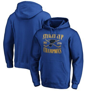 St. Louis Blues Fanatics Branded 2019 Stanley Cup Champions Hand Pass Pullover Hoodie - Royal
