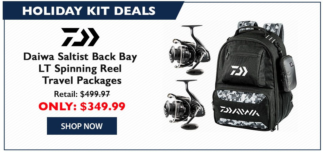 Daiwa Saltist Back Bay LT Spinning Reel Travel Packages