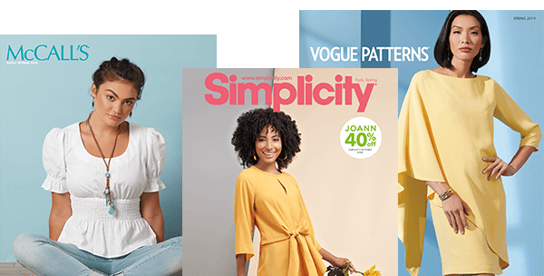 ENDS TOMORROW In Store. 70% off your total purchase of Simplicity, McCall s and Vogue Patterns -when you stack- 40% Sale + 50% Coupon