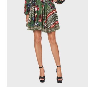 SHIRRED RELAXED SHORT DRESS TALES OF TIME