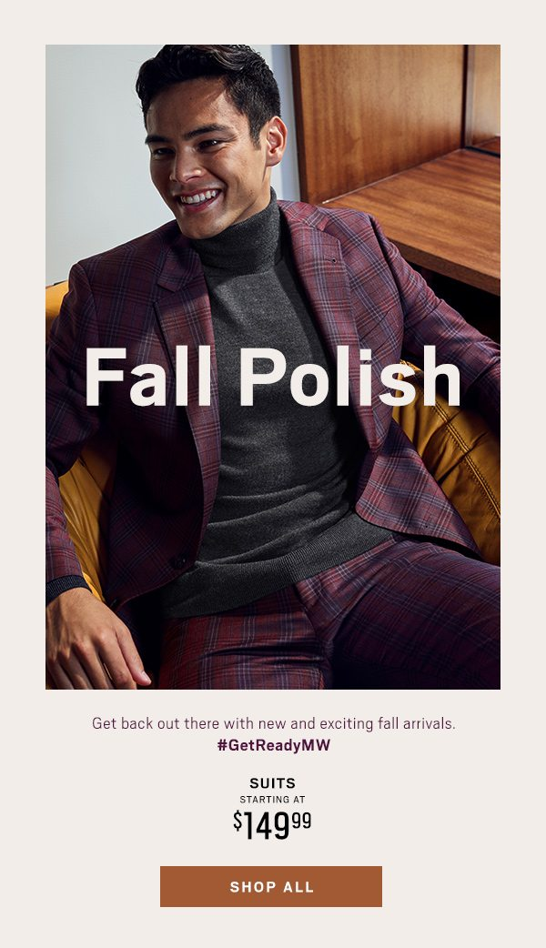 Suits Starting at $149.99 - Shop All