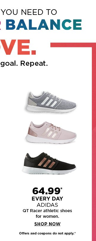 Big savings on athletic shoes, workout