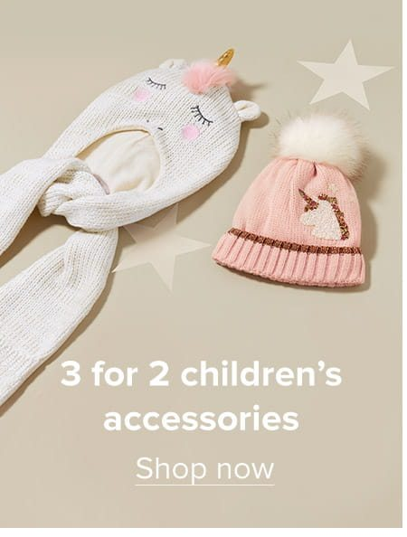 3 for 2 children's accessories