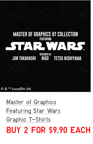 BODY5 - ADULTS MASTER OF GRAPHICS FEATURING STAR WARS GRAPHIC T-SHIRTS