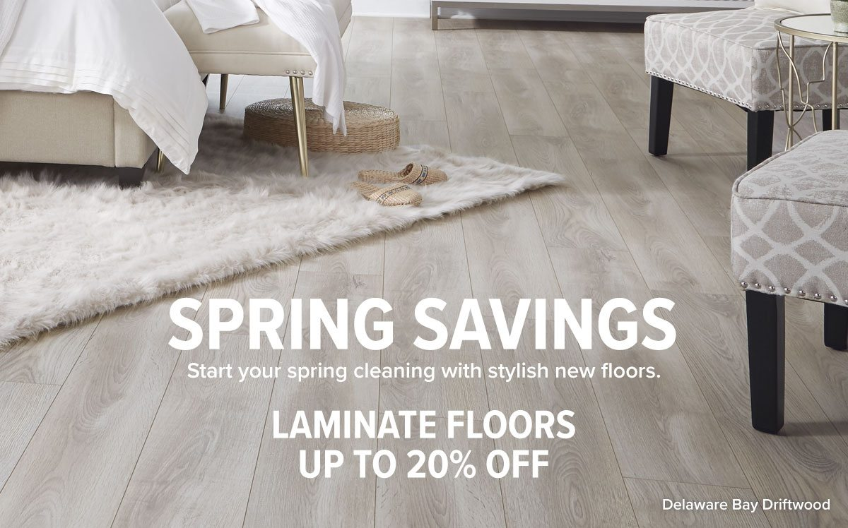 Laminate floors up to 20% off