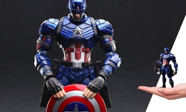 NOW AVAILABLE Captain America Action Figure - Bring Arts Marvel Universe Variant by Square Enix