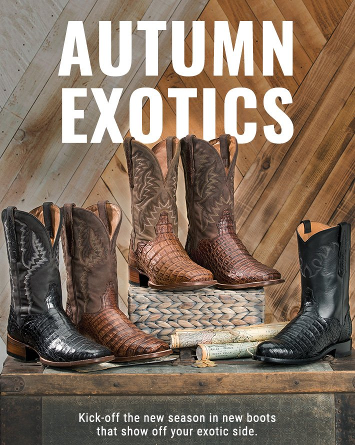 12cdddd48cc Step Into Fall's Finest Exotic Boots - Boot Barn Email Archive